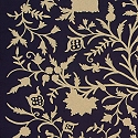 TREE OF LIFE CREWEL NAVY