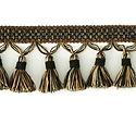"DECORATIVE 3"" TASSEL FRINGE BLACK 287666"