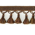 "DECORATIVE 3"" TASSEL FRINGE CHOCOLATE 287667"