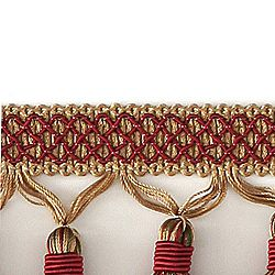 "DECORATIVE 3"" TASSEL FRINGE CRIMSON 287668"