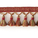 "DECORATIVE 3"" TASSEL FRINGE ROSE 287671"