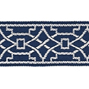 "DECORATIVE TRIM 2"" JACQUARD TAPE BLUEBELL 300893"