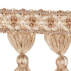 "DECORATIVE TRIM 3 1/2"" TASSEL FRINGE RATTAN 300901"