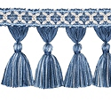 "DECORATIVE TRIM 3 1/2"" TASSEL FRINGE BLUEBELL 300905"