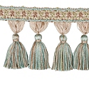 "DECORATIVE TRIM 3 1/2"" TASSEL FRINGE VERBENA 300907"
