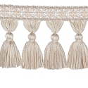 "DECORATIVE TRIM 3 1/2"" TASSEL FRINGE BIRCH 300911"