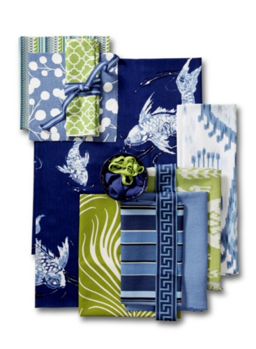 Koi Pond Fabric Collage