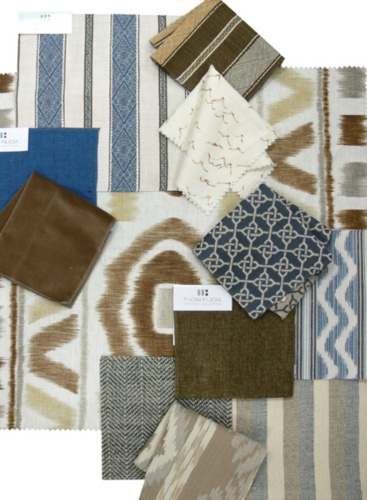 Thom Filicia Fabric Collage, Chocolate