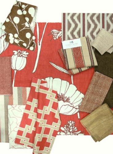 Thom Filicia Fabric Collage, Poppy