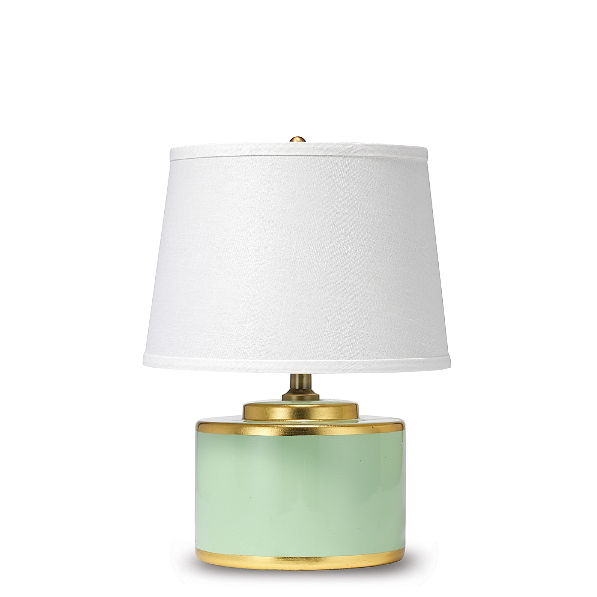 Basin Table Lamp Teal and Gold