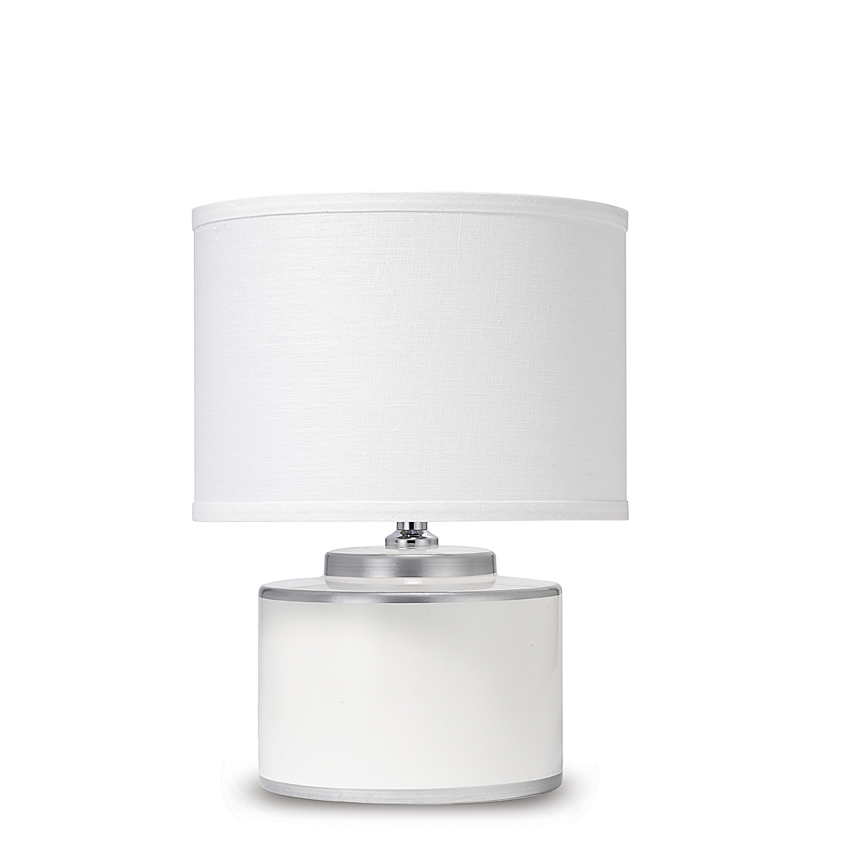 Basin Table Lamp White and Silver