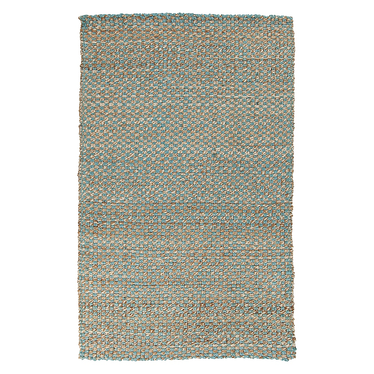 Basketweave Jute Rug - Blue