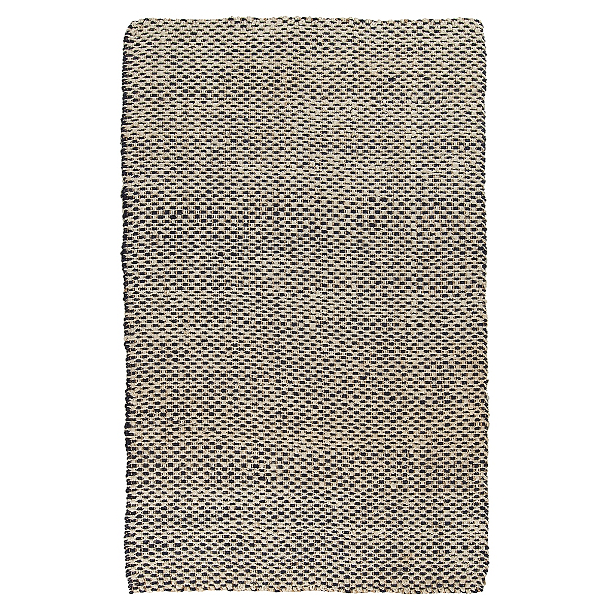 Basketweave Jute Rug - Navy
