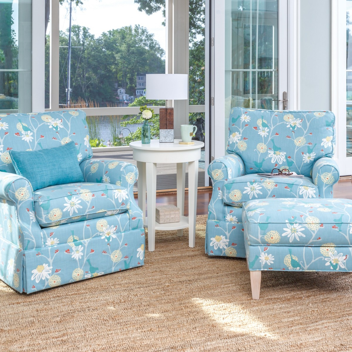 Lucy Swivel Glider Chair Maine Cottage - Swivel glider chairs living room