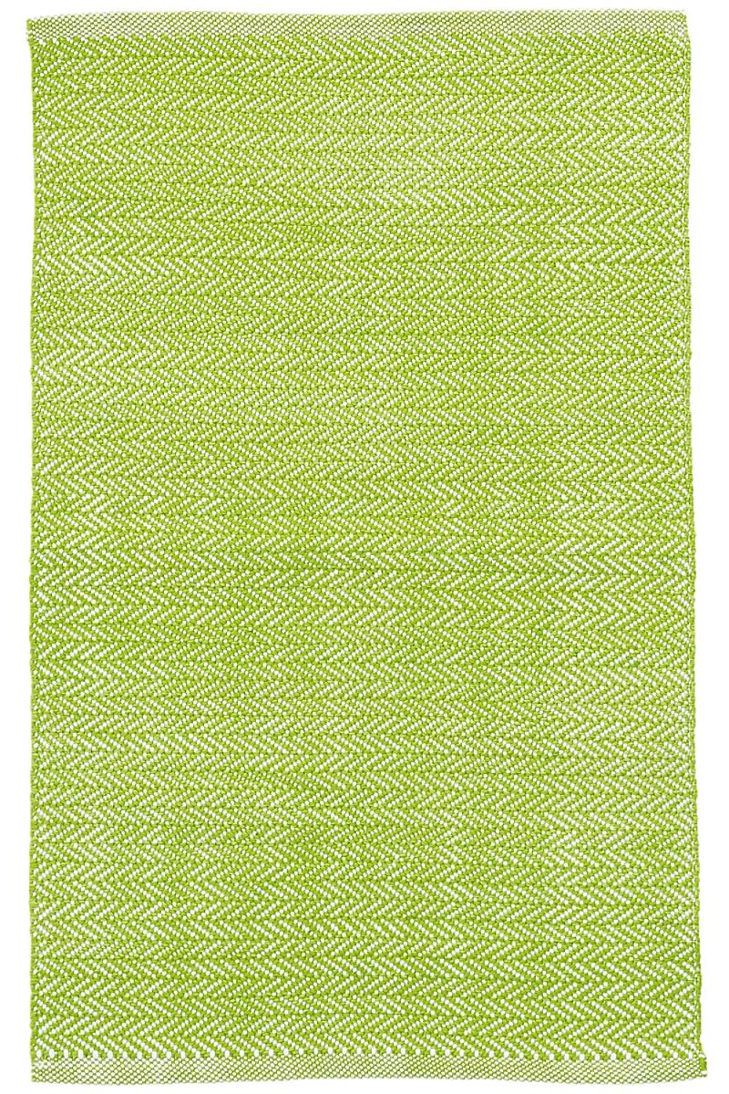 C3 Herringbone Green Indoor/Outdoor Rug
