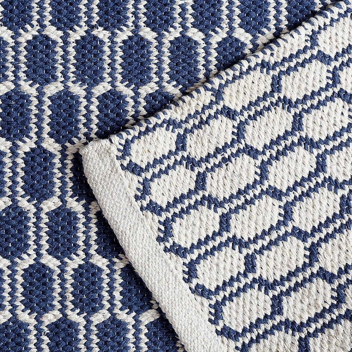 Terra Indigo Woven Cotton Rug