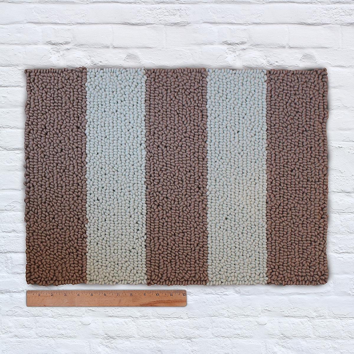 Waypoint Wool Rug Duo Stripe Bark Bluebell