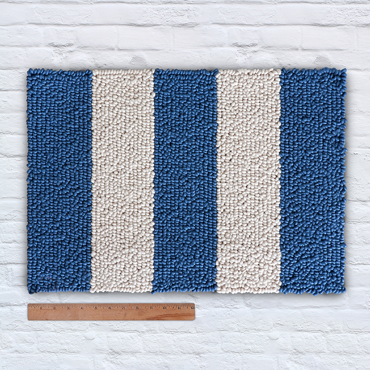 Waypoint Wool Rug Duo Stripe Ivory Marine