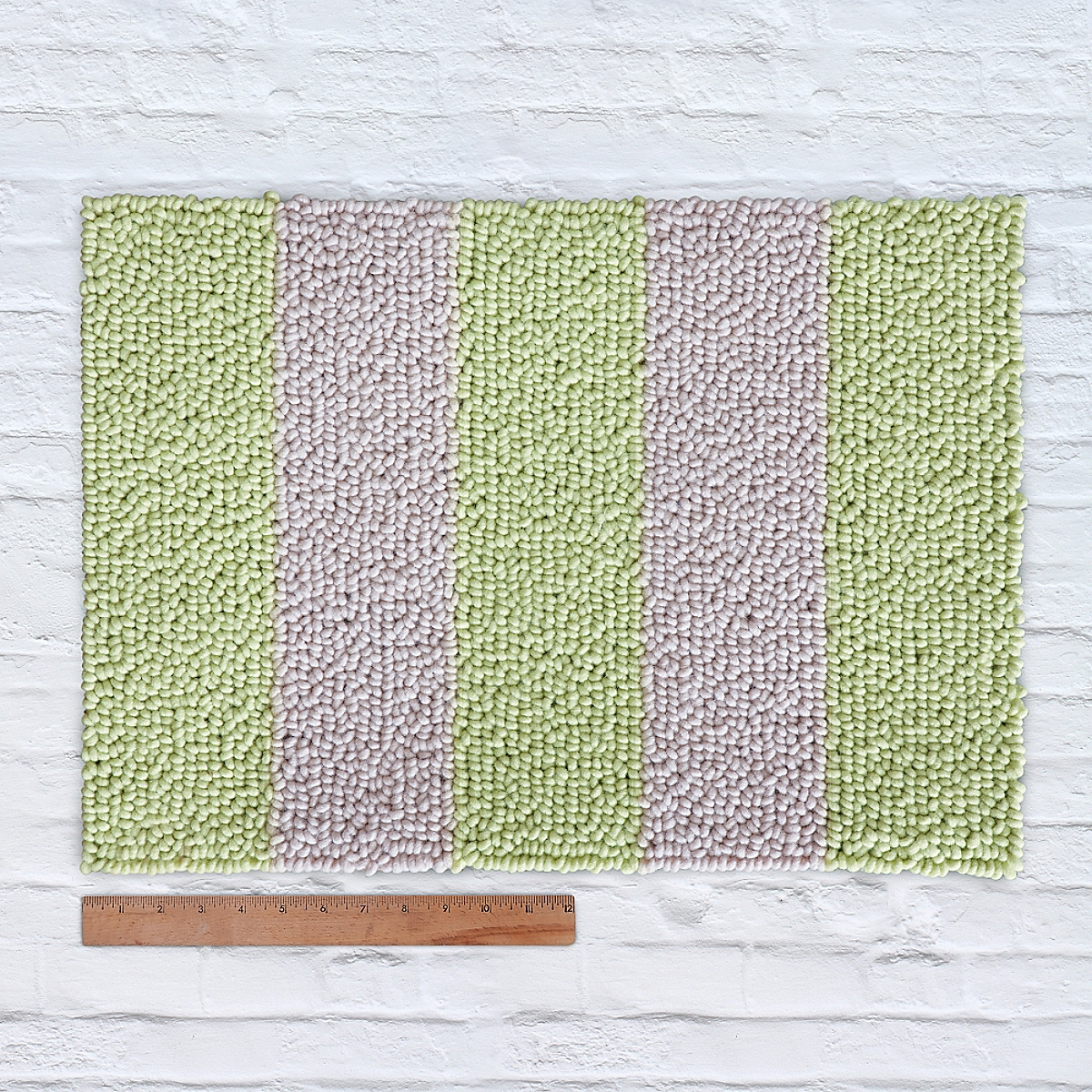 Waypoint Wool Rug Duo Stripe Ivory Sprout