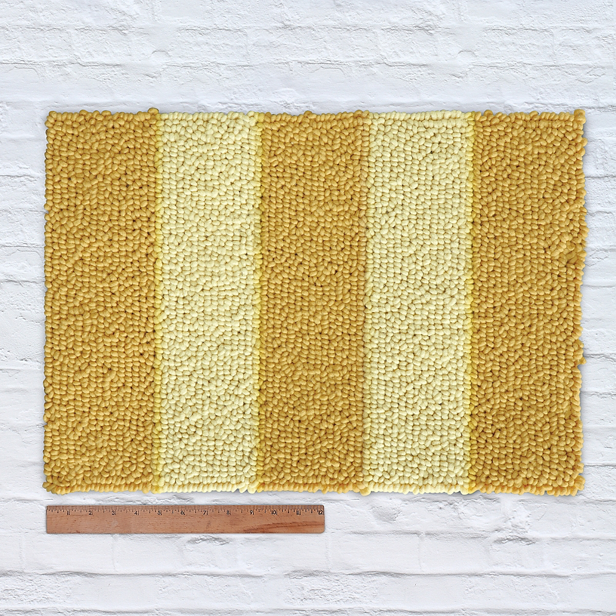 Waypoint Wool Rug Duo Stripe Tonal Ale Sun