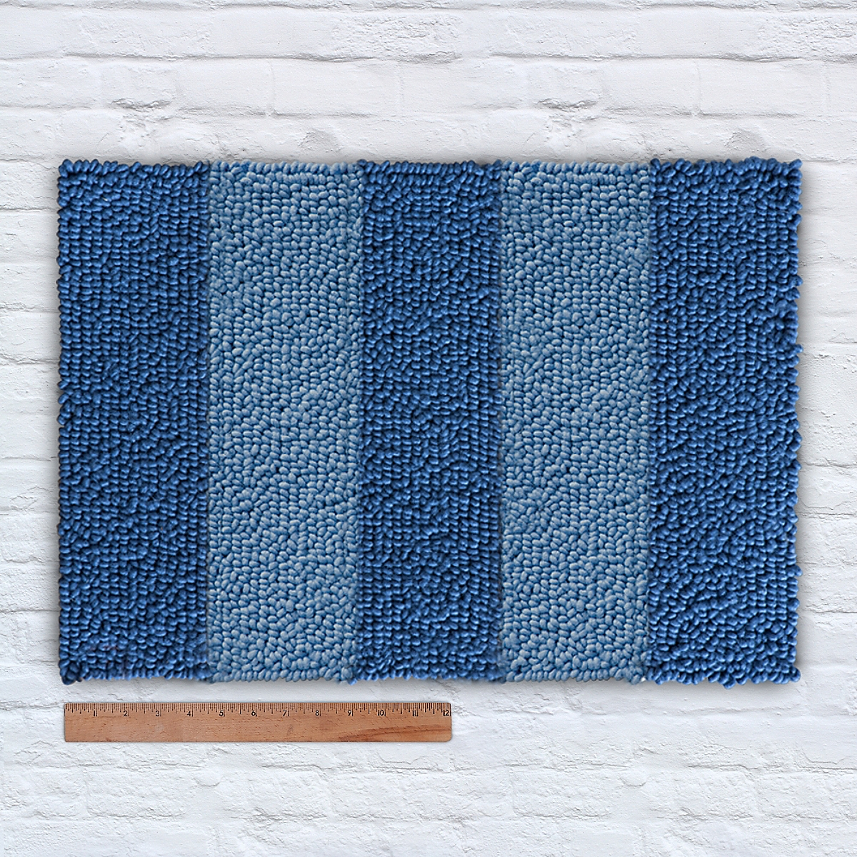Waypoint Wool Duo Stripe Tonal Marine Vast Sky