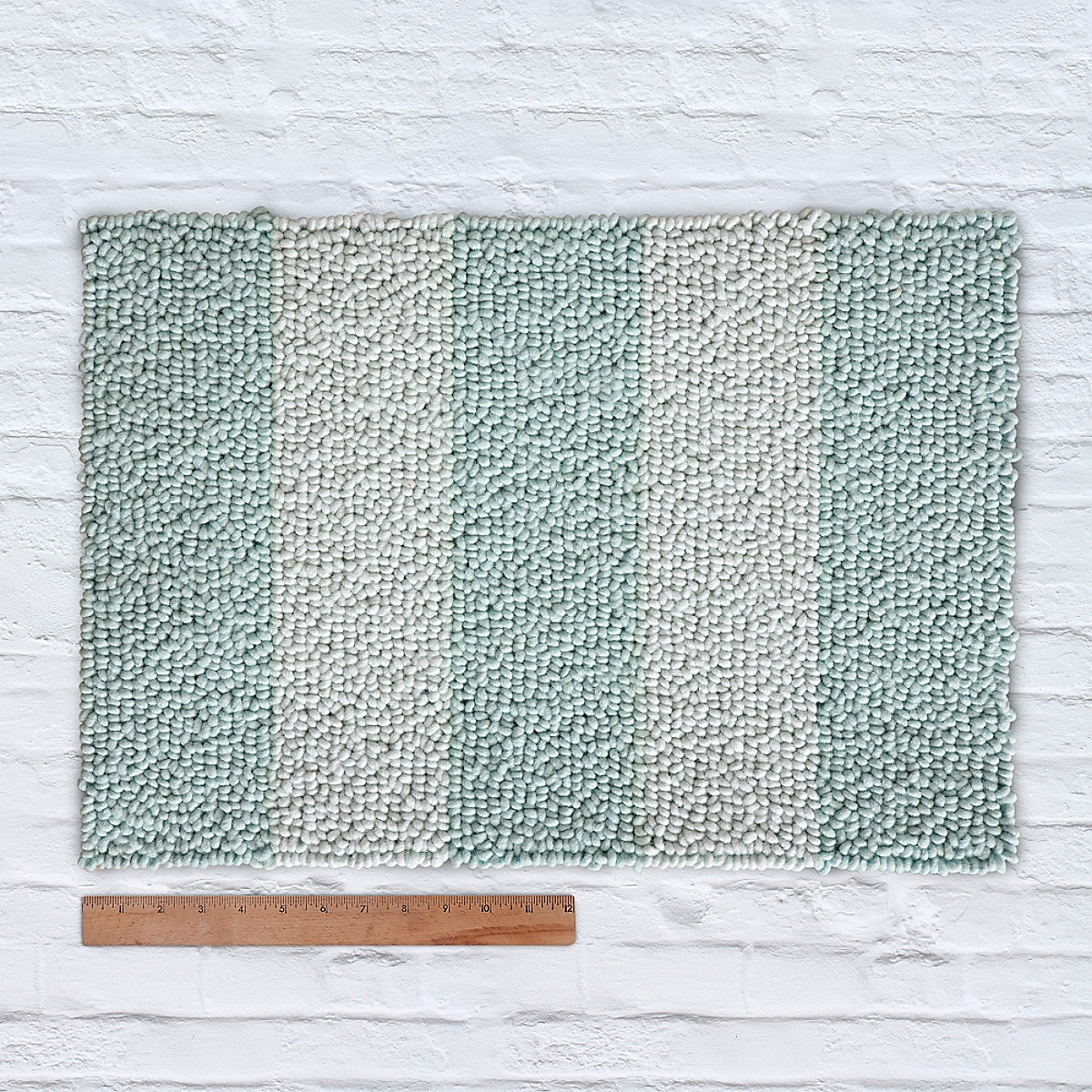 Waypoint Wool Rug Duo Stripe Tonal Porch Bluebell