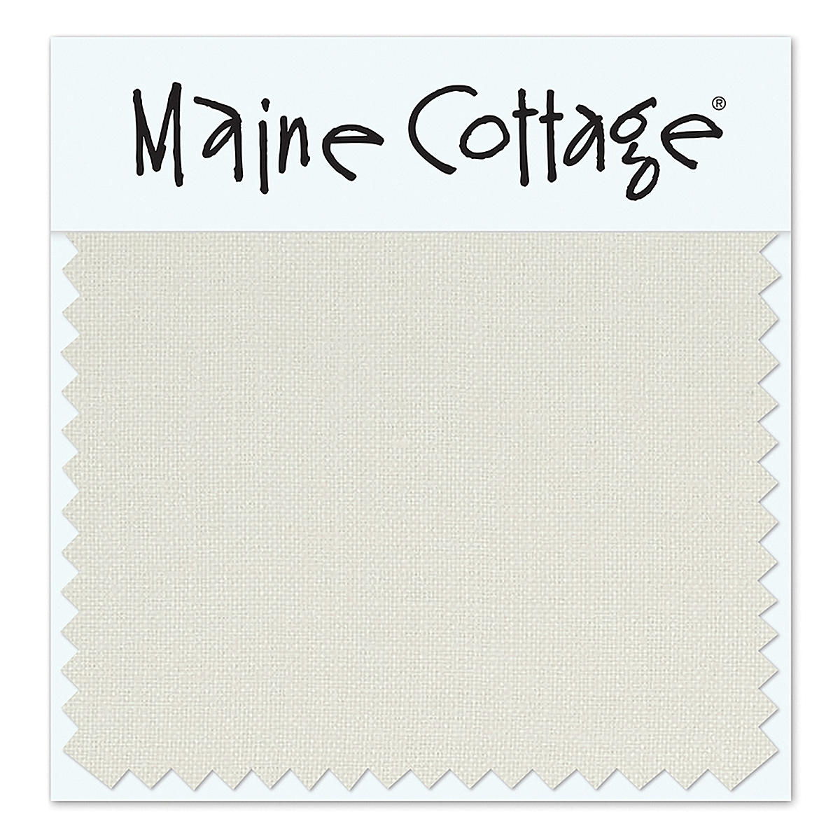 Beach House Linen: White (swatch card)