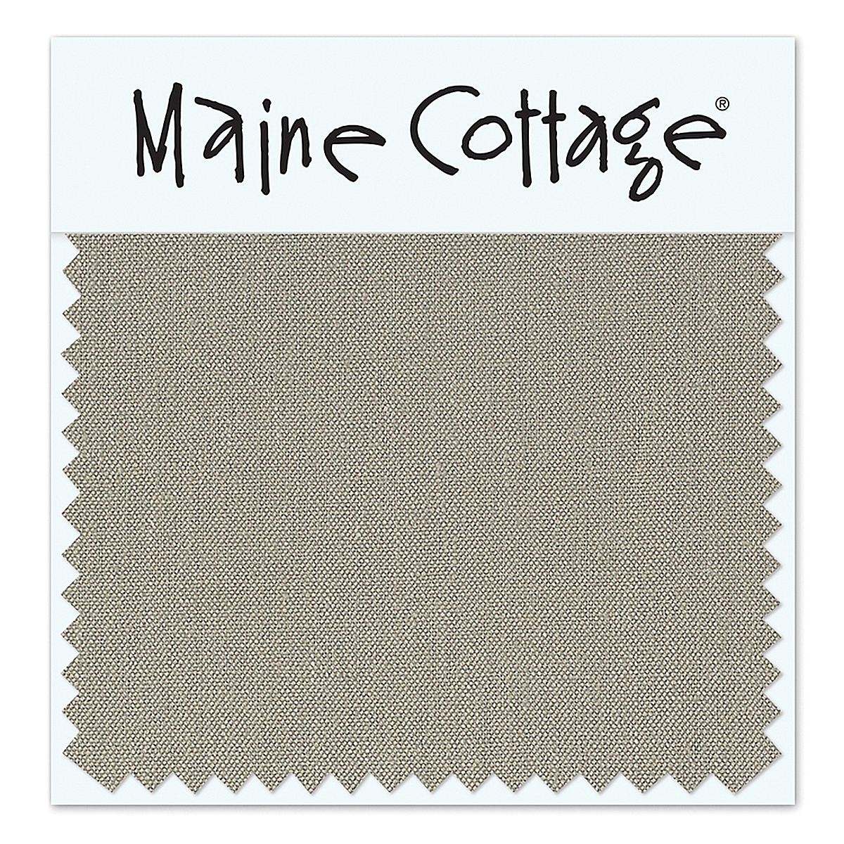 Belgian Linen: Zinc (swatch card)