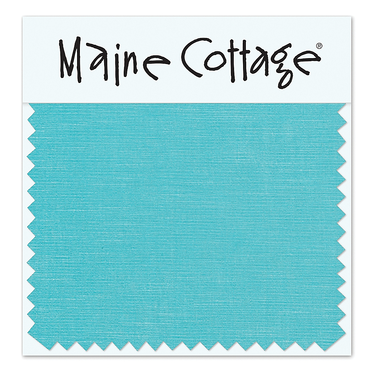 Coastal Cotton: Aqua (swatch card)