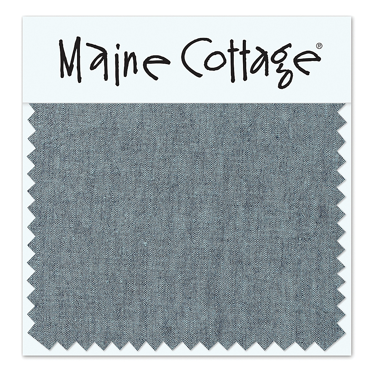 Oxford Linen: Denim (swatch card)