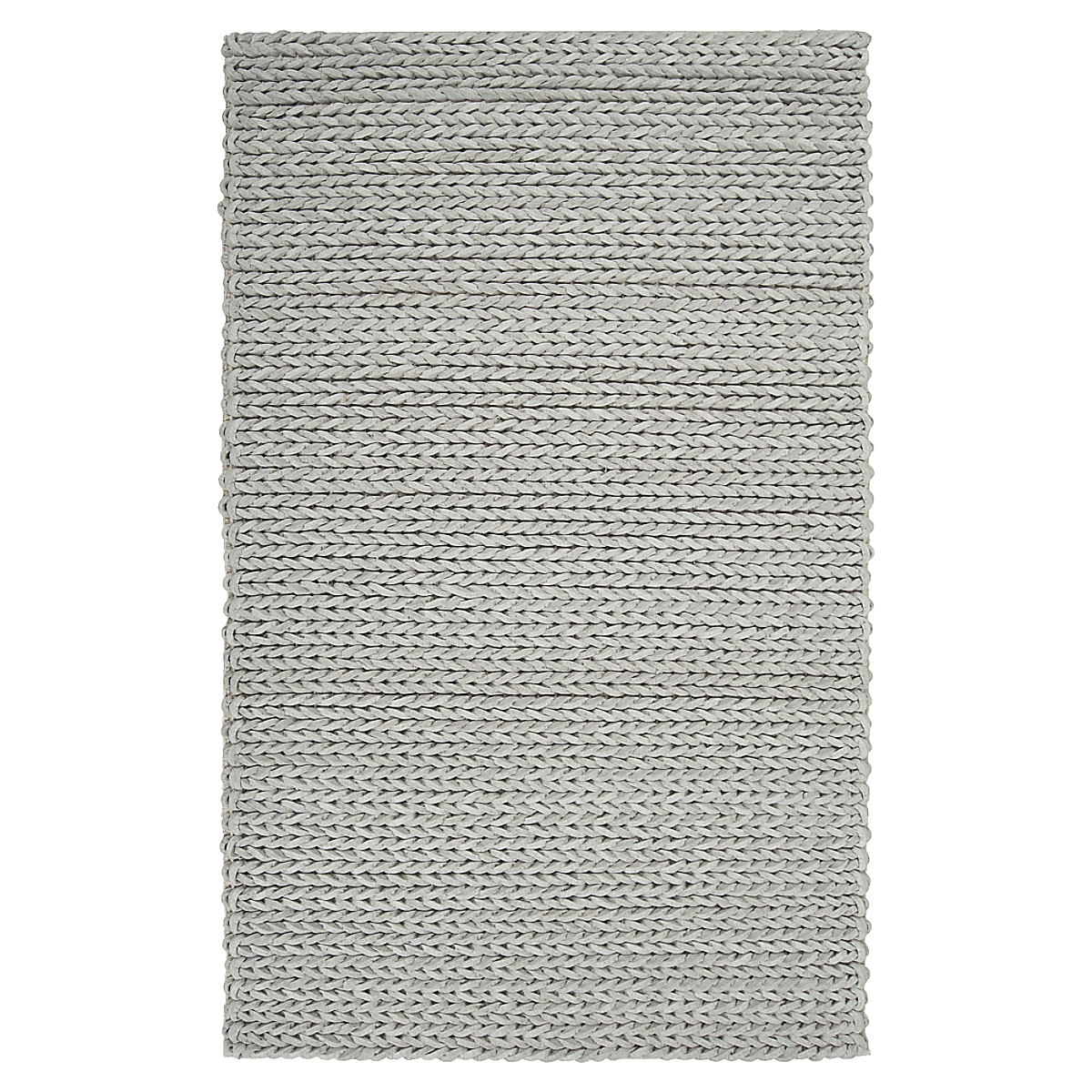 Fishtail Felted Wool Rug - Gray