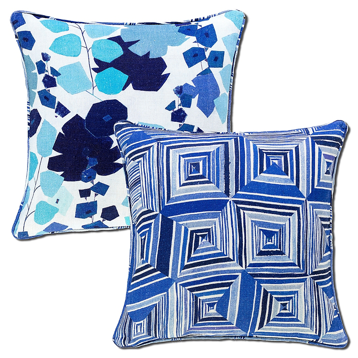 Geo Floral Reversible Pillow-20x20