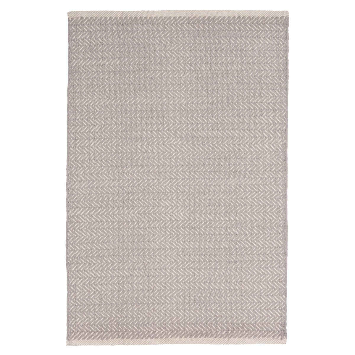 Herringbone Cotton Rug - Dove Grey