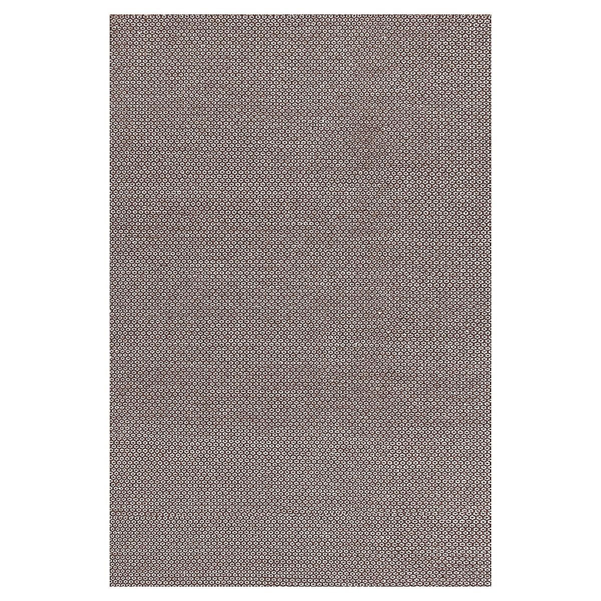 Honeycomb Chocolate Grey Wool Woven Rug