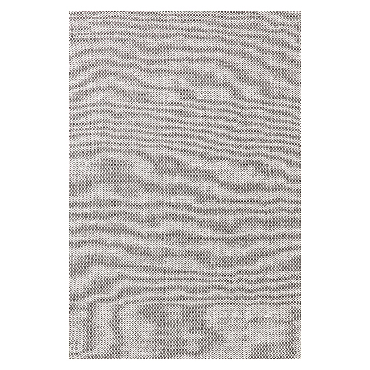 Honeycomb Ivory Grey Wool Woven Rug