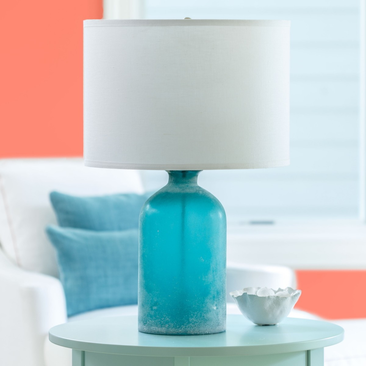 co related shades post shade smartcasual aqua blue lamp