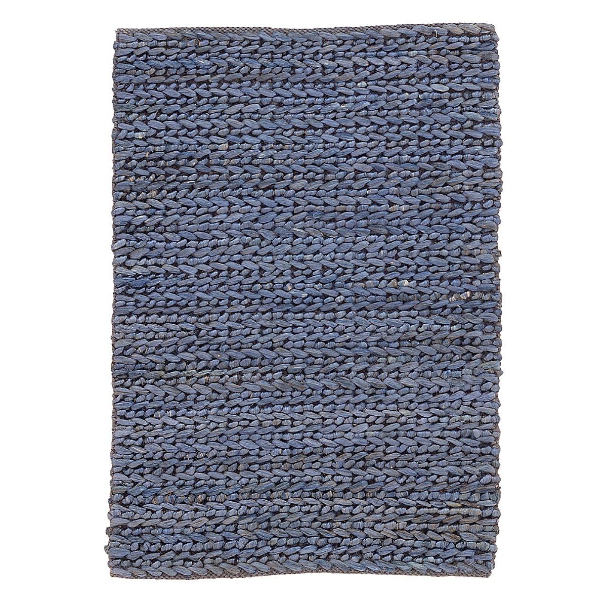 Jute Woven Blue Rug