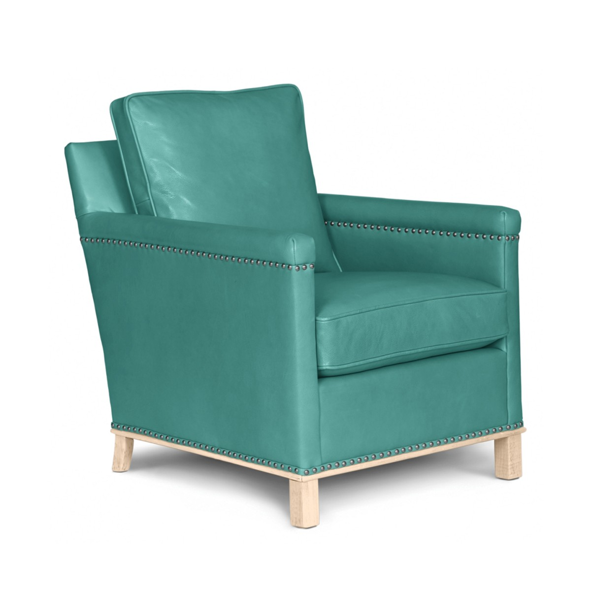 Aqua leather chair - Henry Leather Chair