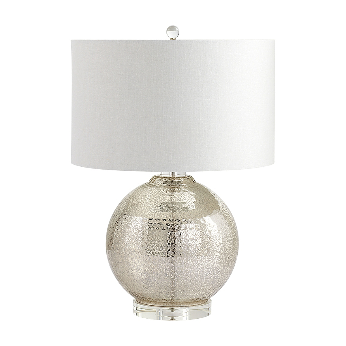 Mercury Hammered Reflections Table Lamp