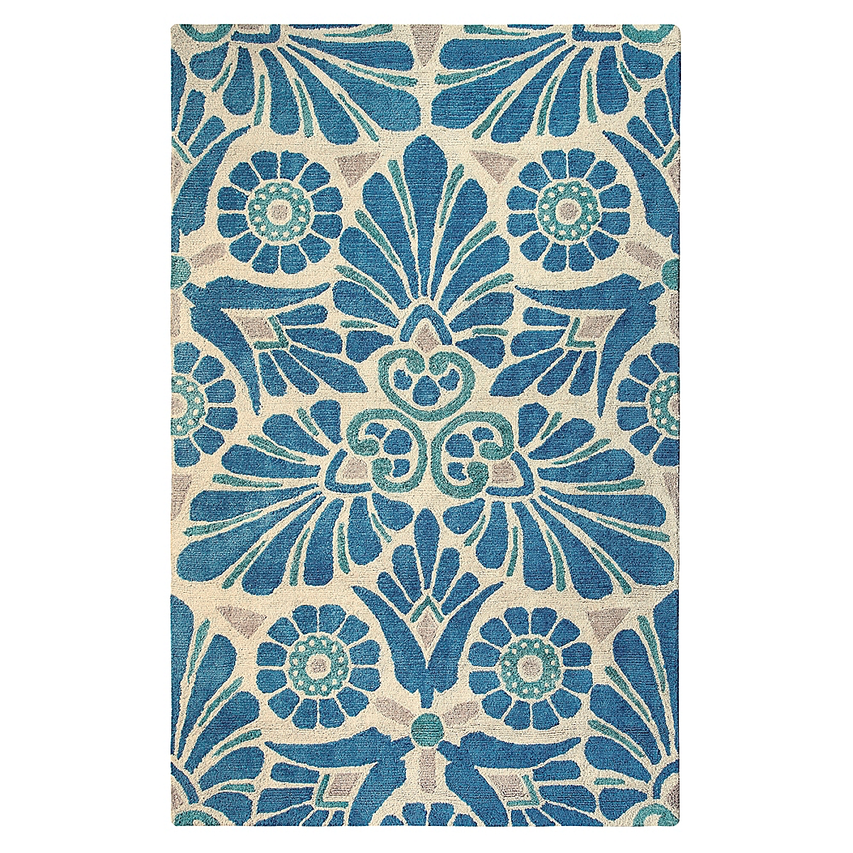 Painted Medallion Blue Rug