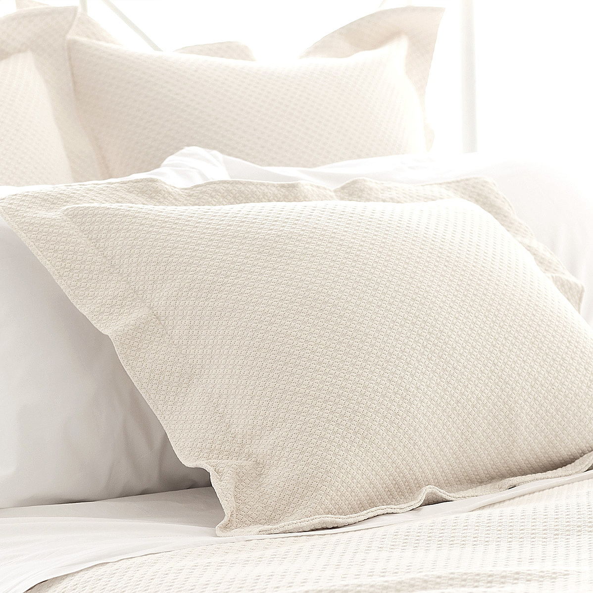 Petite Trellis Matelasse Coverlet and Sham