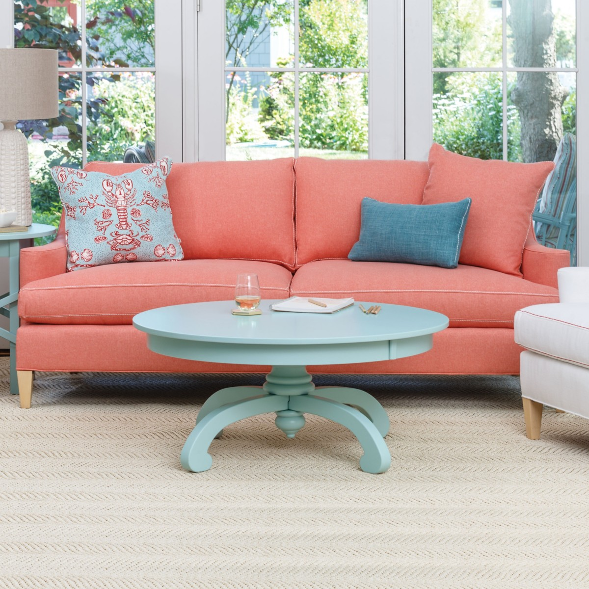 Incroyable Hutton Sofa With French Seam Rope Stitch