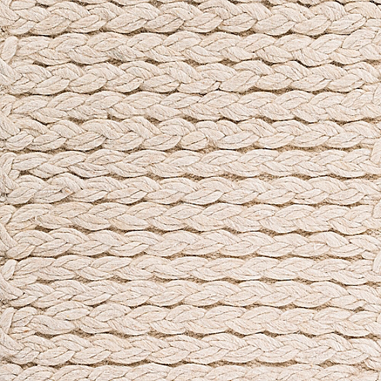 Double Braided Felted Wool Rug Beige Maine Cottage 174