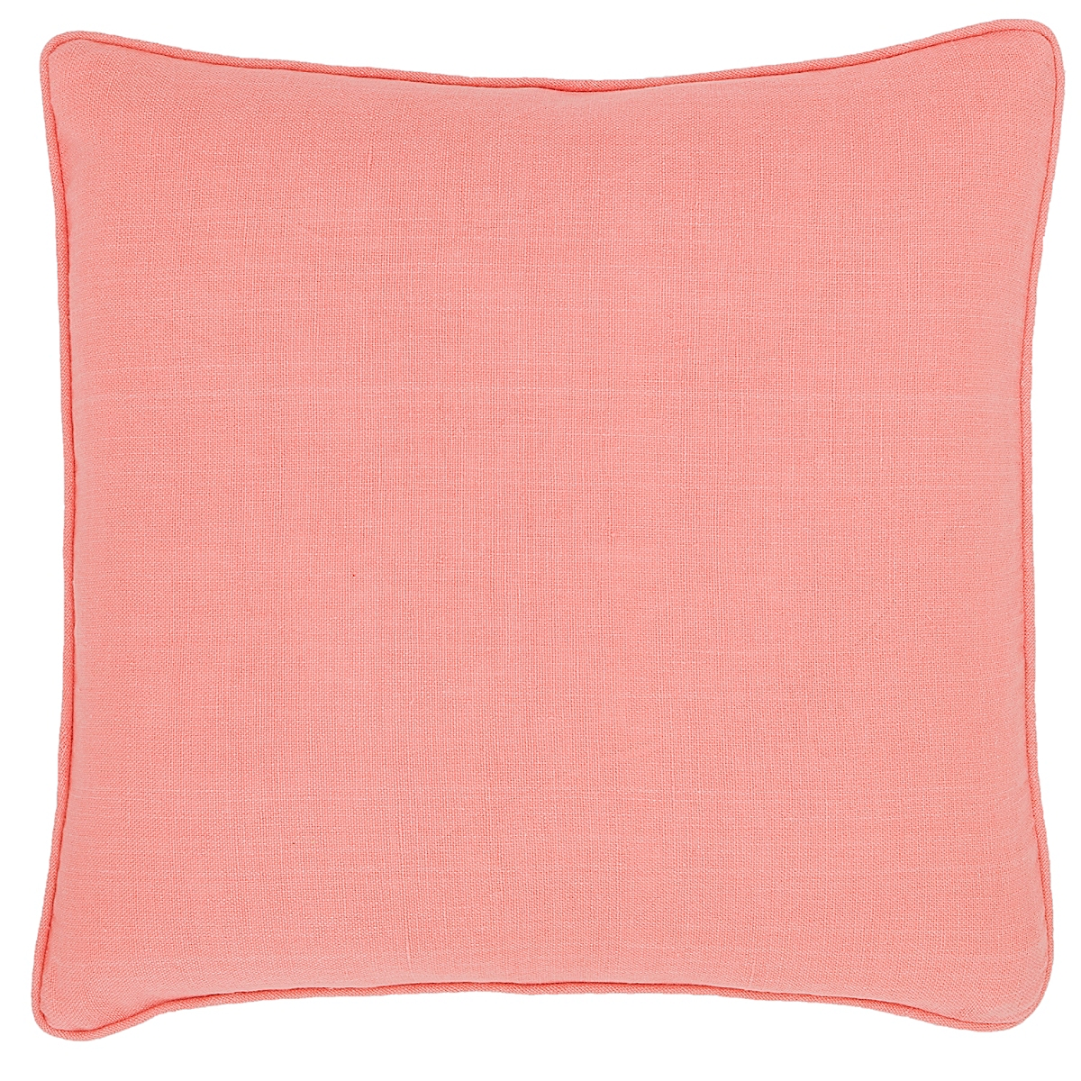 Stone Washed Linen Coral Decorative Pillow