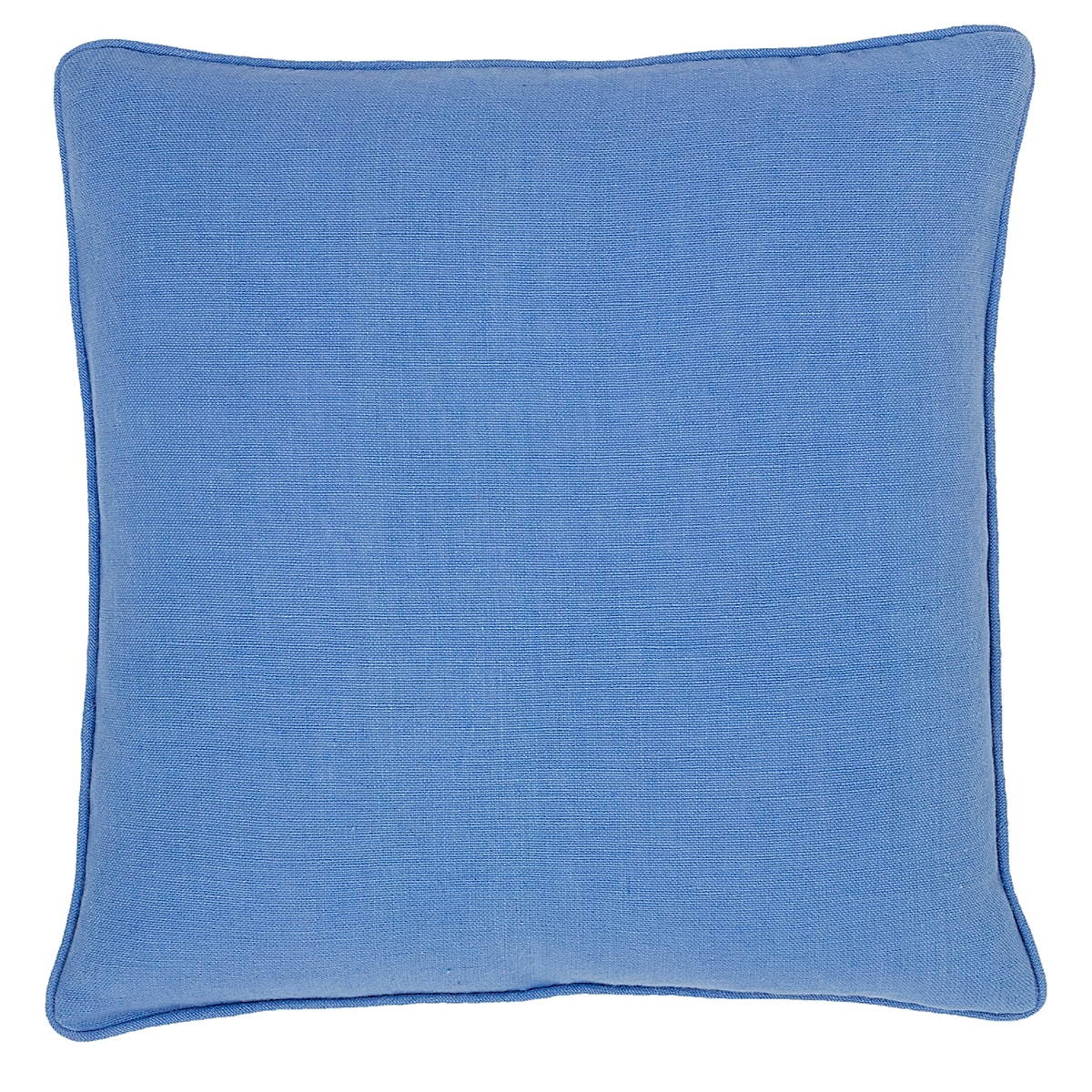 Stone Washed Linen Periwinkle Decorative Pillow