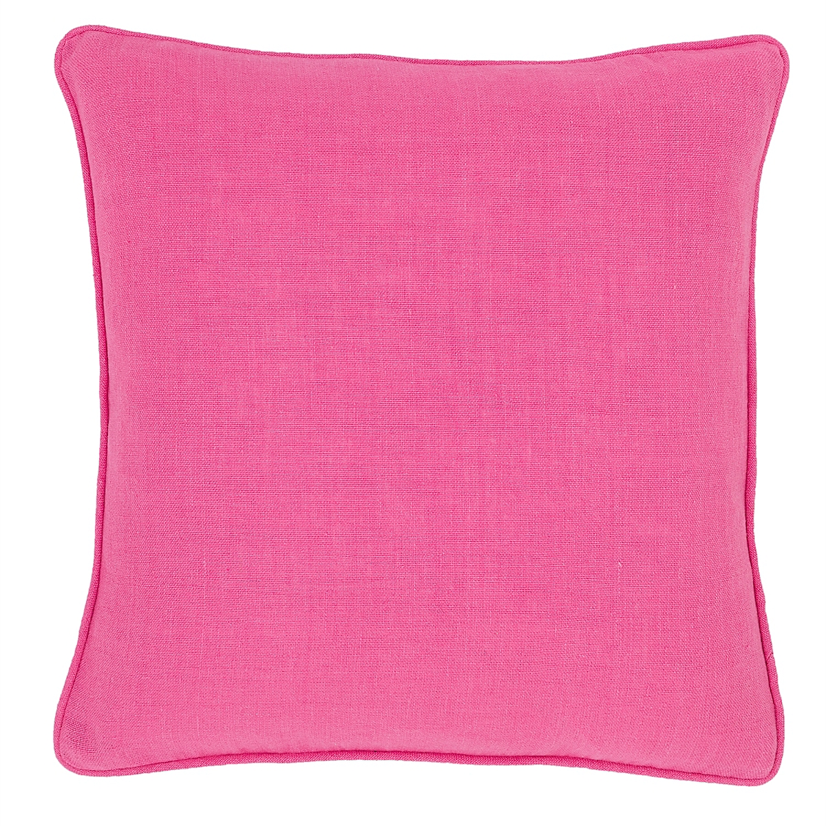Stone Washed Linen Fuchsia Decorative Pillow