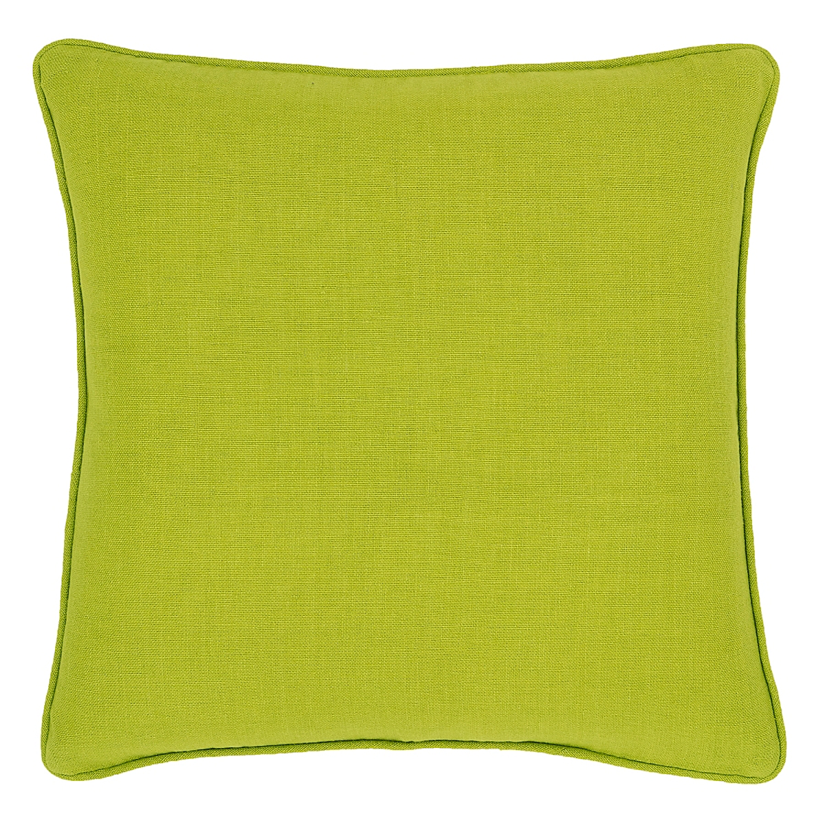 Stone Washed Linen Green Decorative Pillow
