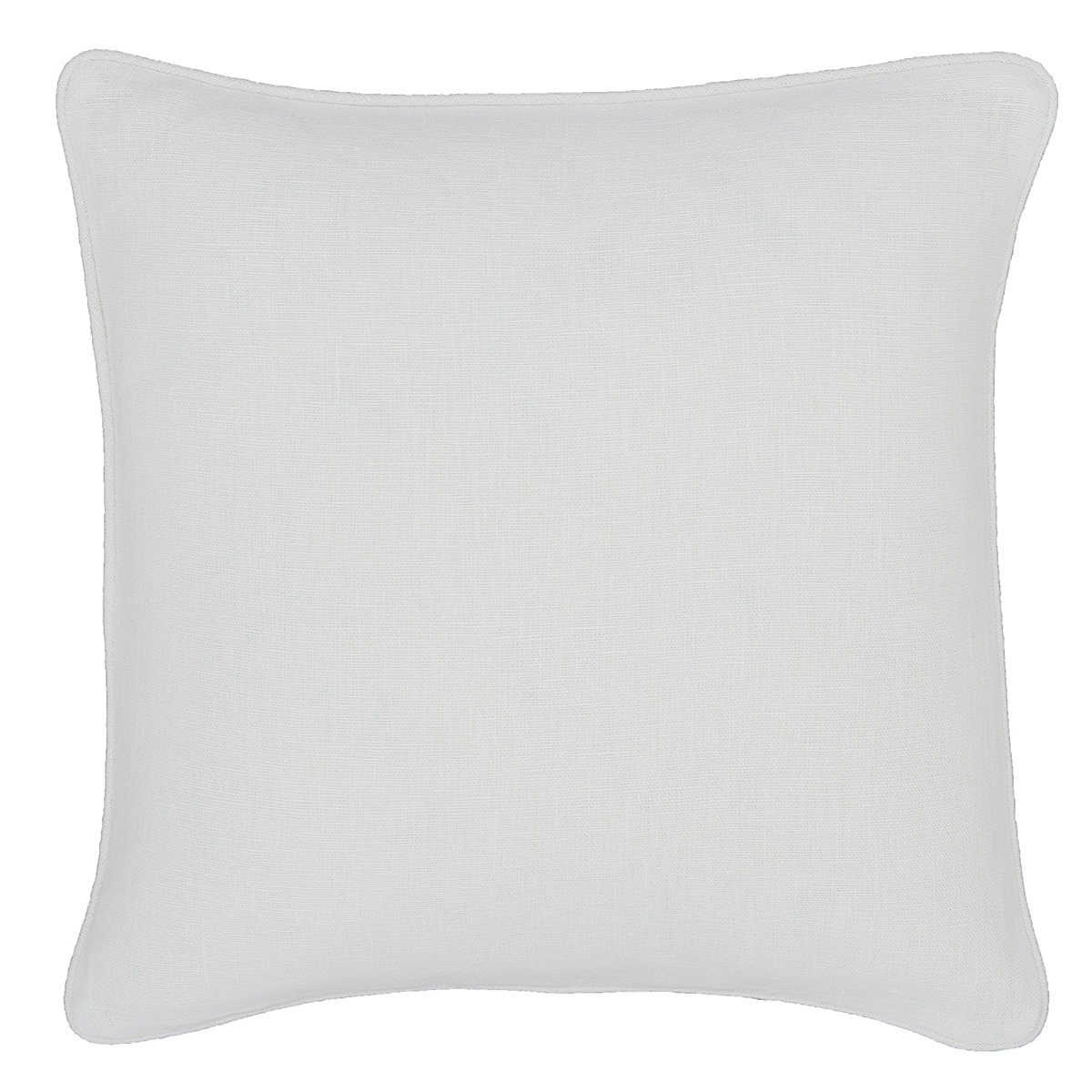 Stone Washed Linen White Decorative Pillow