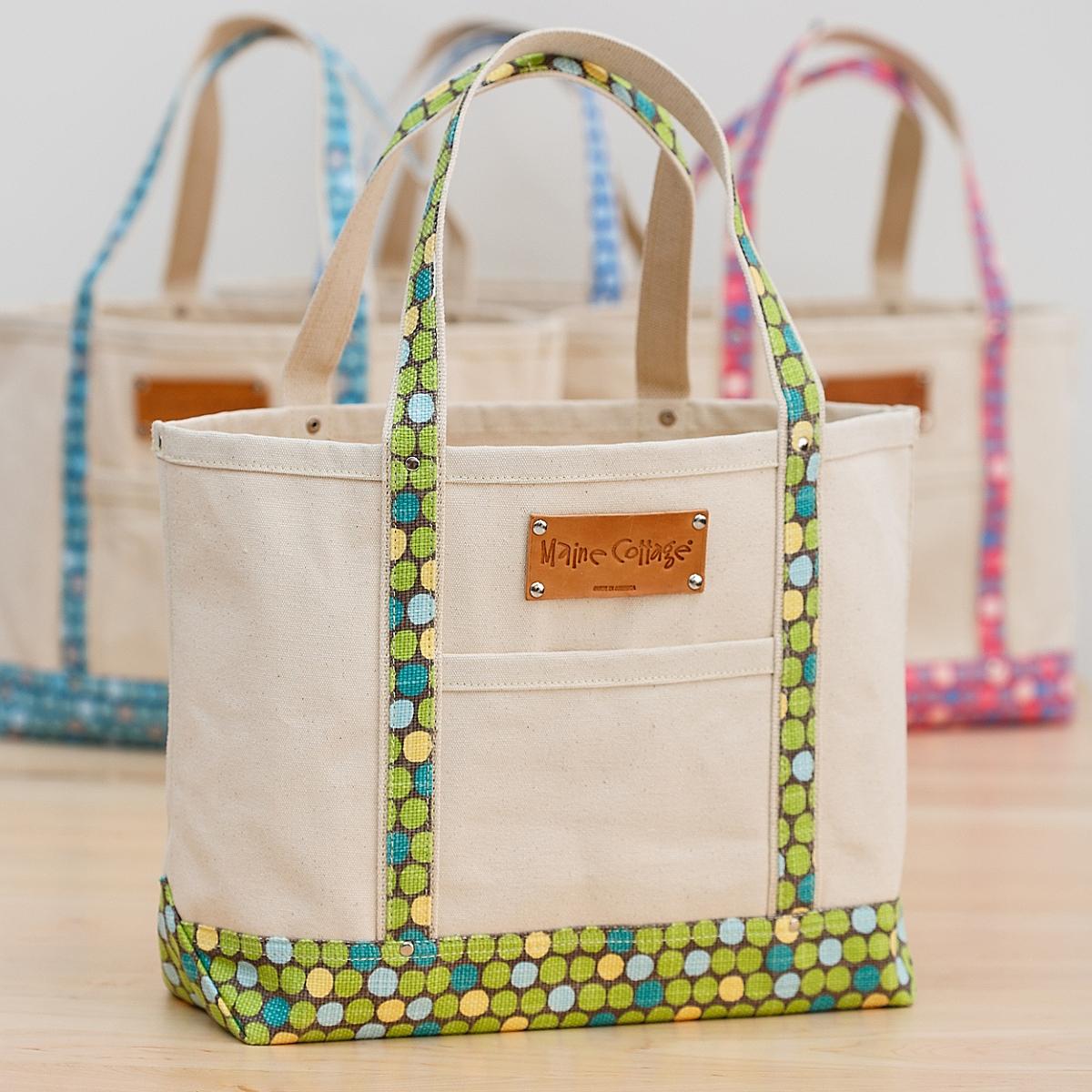 Tote Bag in Lotsa Dots / Bark