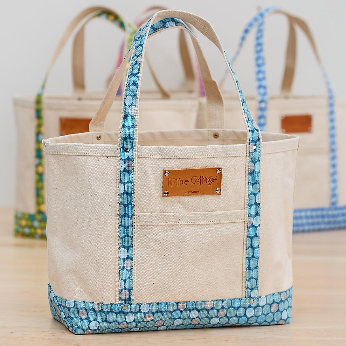 Tote Bag in Lotsa Dots / Lagoon